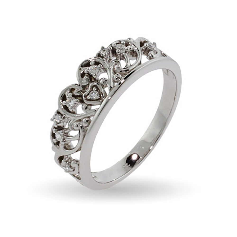 strand rings stone tiara white diamond engagement curve products and ring front anna sheffield