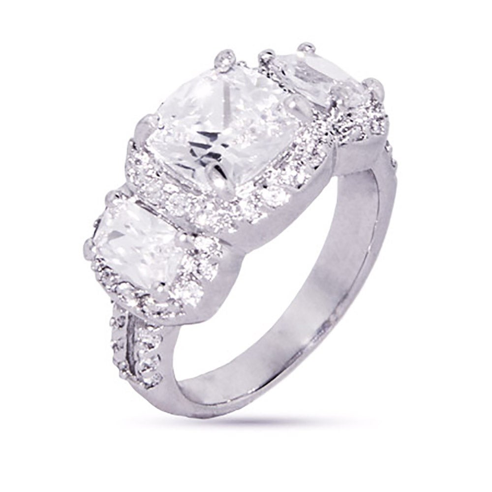 cushion cut past present future cz engagement ring eves