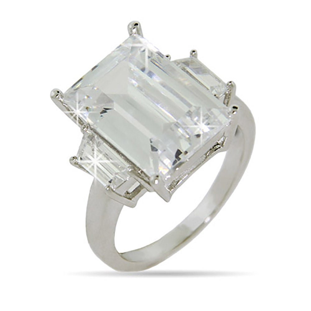 Engagement Rings Celebrity: Celebrity Inspired 21 Carat CZ Engagement Ring
