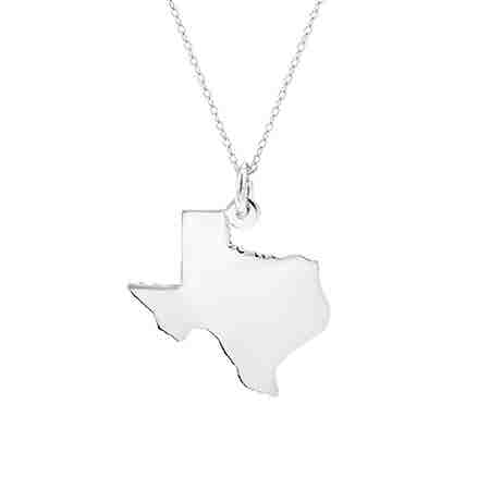 Sterling Silver State Pendant