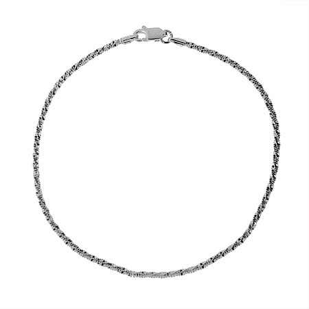 Sparkling Diamond Cut Sterling Silver Anklet