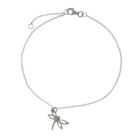 display slide 1 of 1 - Designer Style Dragonfly Charm Anklet - selected slide