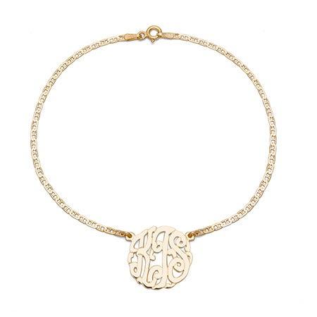 Gold Vermeil Custom Monogram Anklet | Eve's Addiction®
