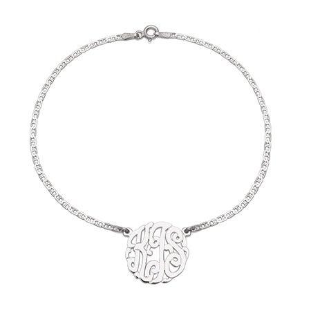 Sterling Silver Custom Monogram Anklet | Eve's Addiction®