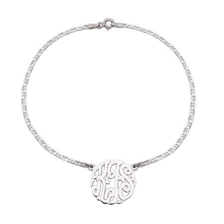 Sterling Silver Custom Monogram Anklet | Eve's Addiction®