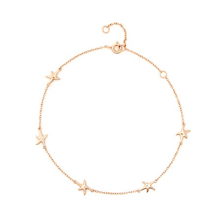 Starfish Anklet In Rose Gold Vermeil | Eve's Addiction®