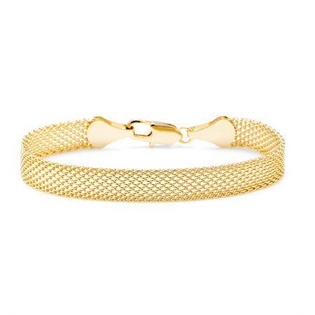 Gold Tone Mesh Bracelet with Lobster Clasp | Eve's Addiction®