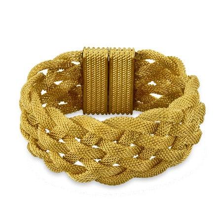 Gold Braided Mesh Bracelet | Eve's Addiction®