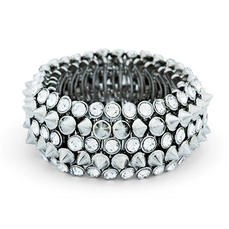 Studded CZ Five Row Statement Bracelet | Eve's Addiction®