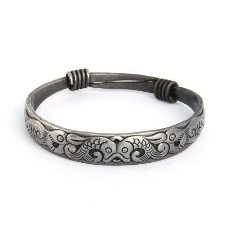 Playful Koi Fish Bali Bangle Bracelet | Eve's Addiction®