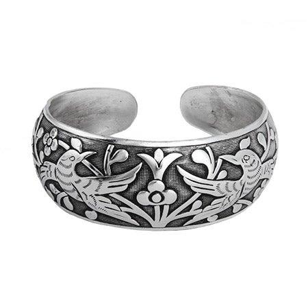 Loving Doves Wide Bali Cuff Bracelet | Eve's Addiction