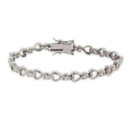 Swirling Hearts CZ Tennis Bracelet | Eve's Addiction®
