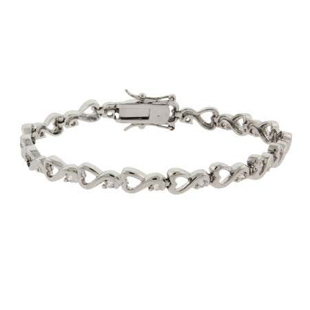Swirling Hearts CZ Tennis Bracelet | Eve's Addiction®