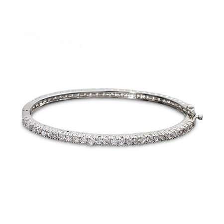 Slim Cubic Zirconia Bangle Bracelet | Eve's Addiction®