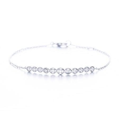 Designer Inspired Graduated CZ Bar Bracelet | Eve's Addiction®