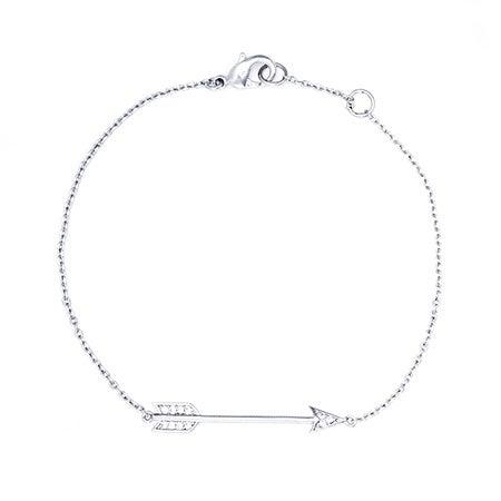 Designer Inspired CZ Sideways Arrow Bracelet | Eve's Addiction®