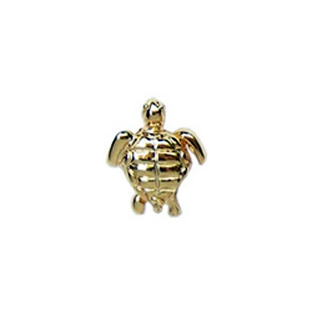 Gold Goodluck Turtle Bead