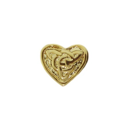 Gold Knotted Heart Bead