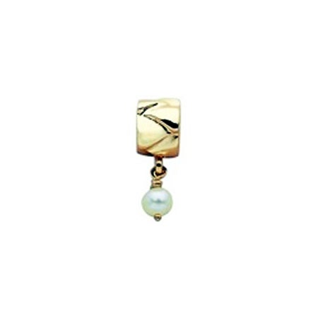 Pearl & Gold Dangle Oriana Bead - Pandora Compatible | Eve's Addiction