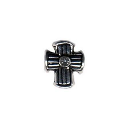 Diamond Lined Cross Bead