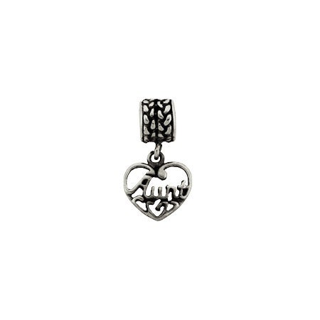 Vintage Style Dangling Aunt Heart Bead