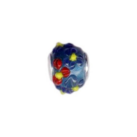 Summer Flowers Glass Bead