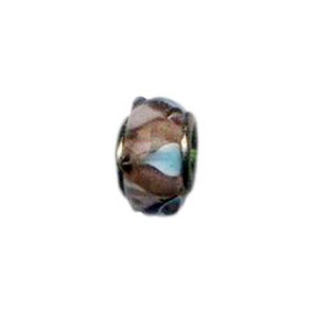 Rose Swirl Glass Bead