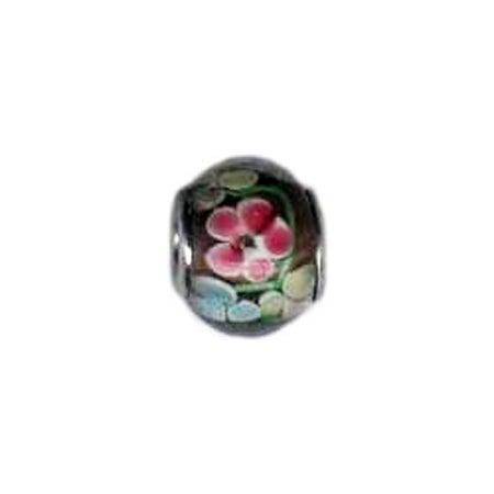 Floral Bouquet Glass Oriana Bead