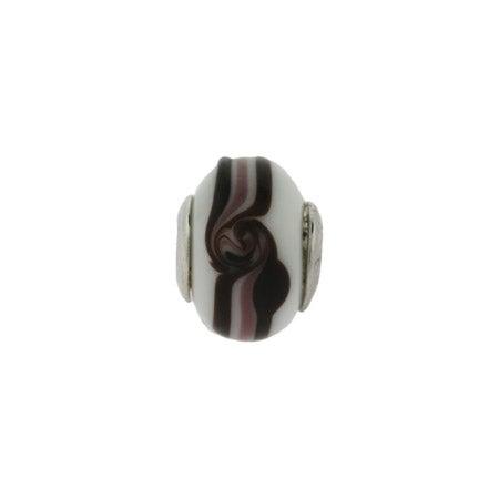 Latte Mocha Swirl Glass Bead | Pandora Compatible Beads