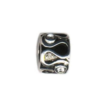 Bezeled Stone Bead