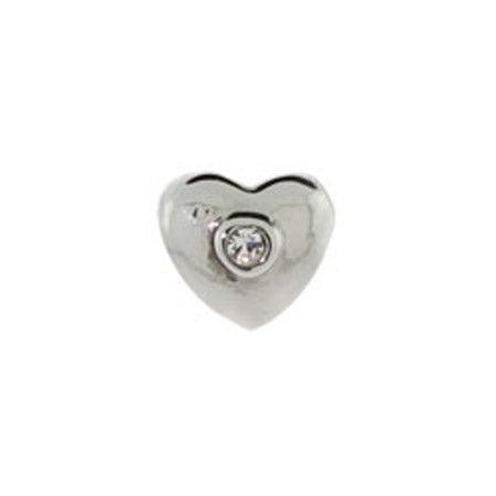 Diamond CZ heart Jewelry Bead | Eve's Addiction Beads