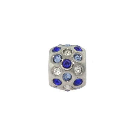 Shades of Blue CZ Bezel Bead | Pandora Compatible Bead