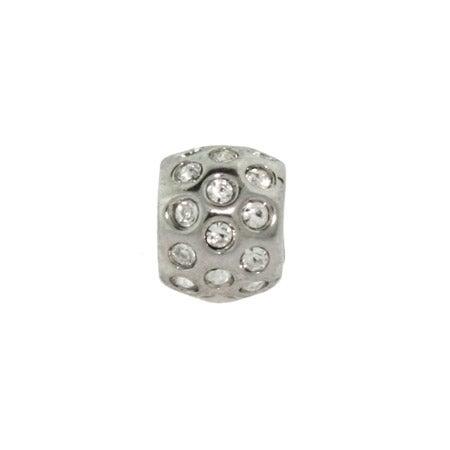 Round White Cubic Zirconias Bead | Eve's Addiction Bead