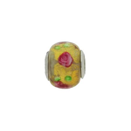 Pink And Yellow Rose Bead | Eve's Addiction Jewelry