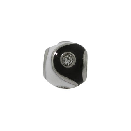 Black and White Yin Yang Bead