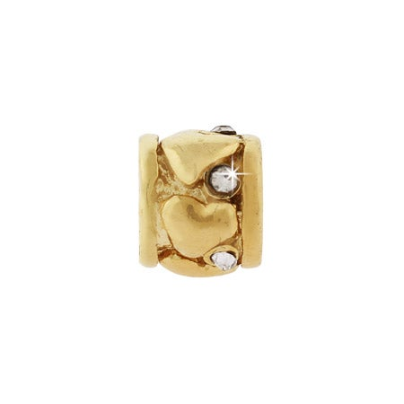 Golden Ring of Hearts Bead