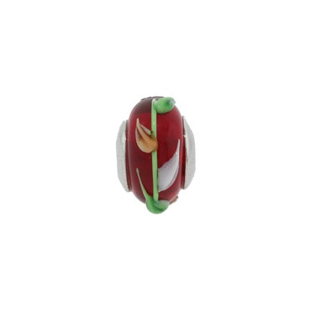 Growing Vine Bead | Real Glass Red Flower Beads Online