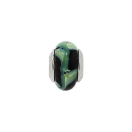 Green and Black Glass Bead | Pandora Compatible Bead