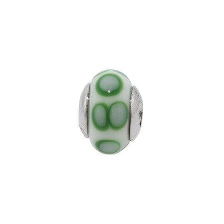 Spotted Green Bead | Turtle Bumps Green Bead