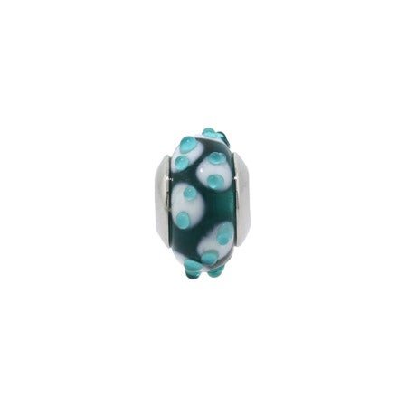 Blue Bumps Blue Glass Jewelry Bead | Eve's Addiction
