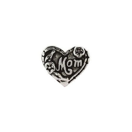 Mom Heart Shaped Bead