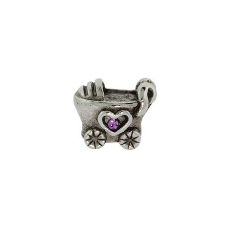 Baby Girl Baby Carriage Bead | Pandora Compatible Bead
