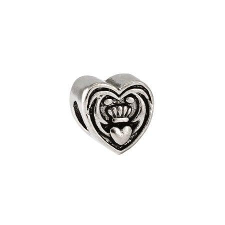 Claddagh Heart Bead
