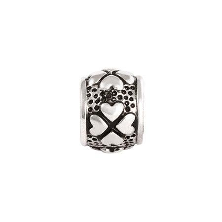 Four Leaf Heart Clover Bead