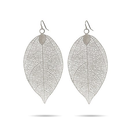 Large Leaf Earrings in Filigree Design | Eve's Addiction®