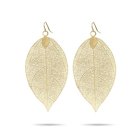 Golden Leaf Earrings | Eve's Addiction®