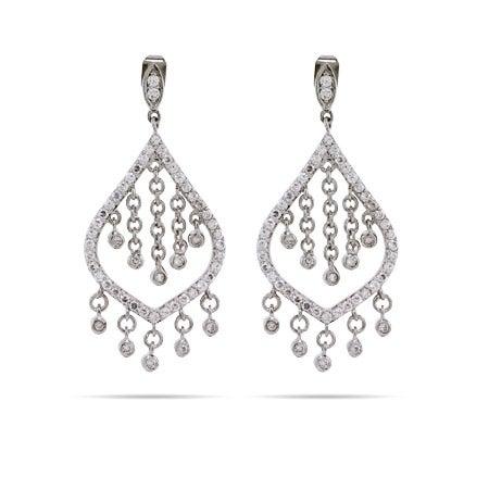 Dazzling CZ Chandelier Earrings | Eve's Addiction®