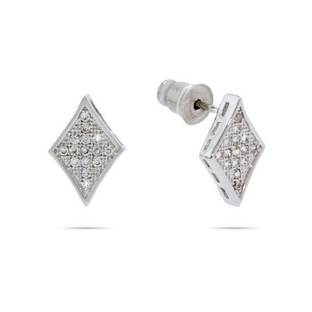 Petite Sparkling Micropave Diamond CZ Earrings | Eve's Addiction®