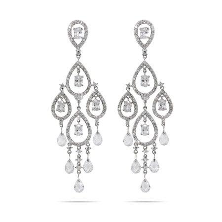 Dazzling Celebrity Style Pear Drop Chandelier Earrings | Eve's Addiction®