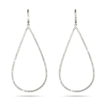 Elongated Teardrop Micro CZ Earrings | Eve's Addiction®